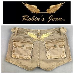 💸Robin's Jeans Military Cargo short size 26